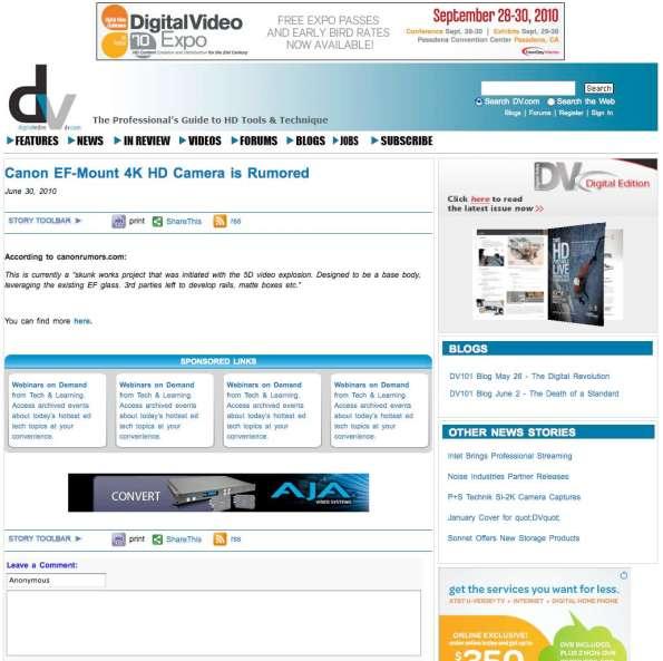 DV Magazine online
