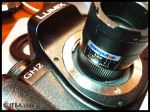 Testing CS-mount lenses on the Panasonic GH2