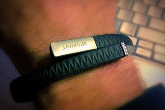 My Jawbone wristband, the way I need to wear it.