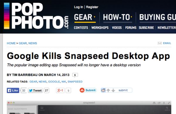 PopPhoto Snapseed article